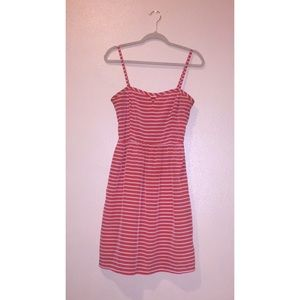Old Navy Orange and White Striped Dress, Size 12